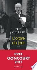 L'ordre du jour Eric Vuillard