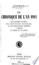 La chronique de l'an 1911