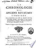 La chronologie des anciens royaumes corrigée