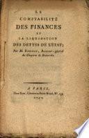 La Comptabilité des Finances et la Liquidation des Dettes de l ́Etat