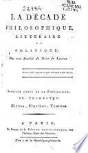 La Décade Philosophique, Littéraire et Politique