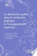 La démarche qualité dans la recherche publique et l'enseignement supérieur