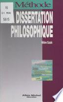 La dissertation philosophique