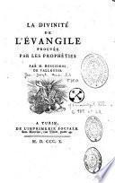 La Divinité de l'Evangile prouvée par les prophéties