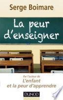 La peur d'enseigner