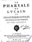 La Pharsale de Lucain