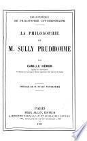 La philosophie de m. Sully Prudhomme