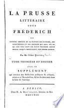 La Prusse littéraire sous Frédéric II