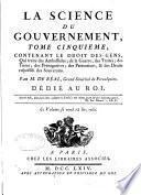 La science du gouvernement