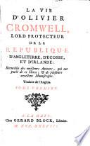 La vie d'Olivier Cromwell, tr. de l'angl. [of I. Kimber].