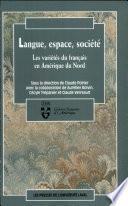 Langue, espace, société