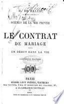Le contrat de mariage H. de Balzac