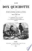 Le Don Quichotte de Fernandez Avellaneda