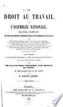 Le droit au travail à l'Assemblée nationale