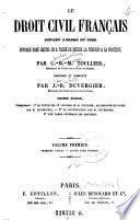 Le Droit Civil Français Suivant L'Ordre Du Code
