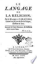 Le langage de la religion