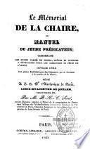 Le mémorial de la chaire, ou manuel du jeune prédicateur