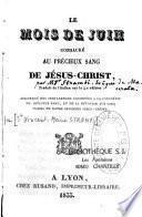 Le mois de juin consacré au Précieux Sang de Jésus- Christ