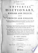 Le nouveau dictionnaire universel françois-anglois et anglois-françois