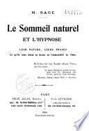 Le sommeil naturel et l'hypnose