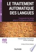Le traitement automatique des Langues