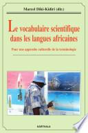 Le vocabulaire scientifique dans les langues africaines