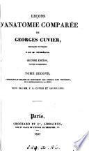 Leçons d'anatomie comparée, recueillies et publ. par C. Duméril. publ. par C. Duméril, C.L. Duvernoy