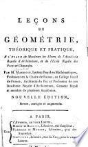 Leçons de géometrie, théorique et pratique, a l'usage de messieurs les eleves de l'Académie royale d'architecture, et de l'Ecole royale des ponts et chaussées