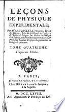 Leçons de physique experimentale