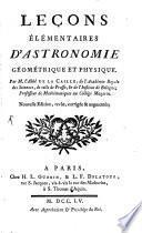 Leçons élémentaires d'astronomie