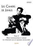 Les Cahiers de Junius - Tome 2