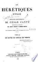 Les hérétiques d'Italie: Les suites du Concile de Trente