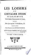Les loisirs du chevalier d'Éon de Beaumont ...