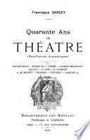 Les modernes: Le drame et le vaudeville (Dumas père, Victor Hugo, Scribe, Labiche, etc.) 1901