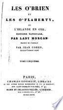 Les O'Brien et les O'Flaherty, ou l'Irlande en 1793