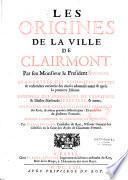 Les origines de la ville de Clairmont