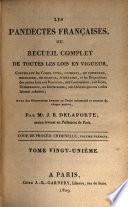 Les pandectes françaises