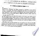Lettre circulaire de M. l'Évêque de Namur à MM. les curés primaires de son Diocèse, contenant divers avis et règlemens de discipline ecclésiastique