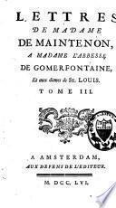 Lettres à diverses personnes et à M. d'Aubigné, son frère