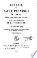 Lettres de saint François de Sales...