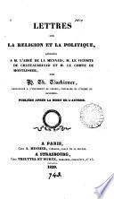 Lettres sur la religion et la politique