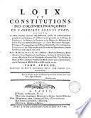 Loix et constitutions des colonies franc̜oises de l'Amérique sous le vent: 1704-1721
