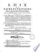 Loix et constitutions des colonies franc̜oises de l'Amérique sous le vent: 1750-1765
