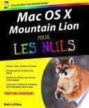 Mac OS X Mountain Lion Pour les Nuls