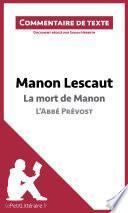 Manon Lescaut de l'Abbé Prévost - La mort de Manon