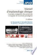Manuel d'implantologie clinique. 3e édition - Editions CdP