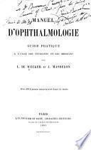 Manuel d'ophthalmologie