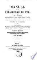 Manuel de la métallurgie du fer