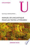Manuel de linguistique pour le texte littéraire
