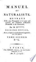 Manuel du naturaliste
